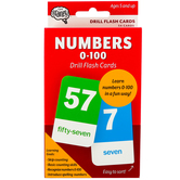 The Brainery, Numbers 0-100 Drill Flash Cards, 54 Cards, 3.25 x 5.25 Inches, Ages 5-10