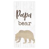 P. Graham Dunn, Papa Bear Wood Block, Wood, 1 x 3 1/2 inches
