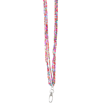 ID Avenue, Vivian Beaded ID Lanyard, Multi-Colored, 38 Inches, 1 Piece