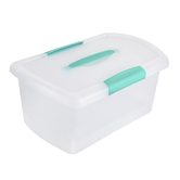 Sterilite, Medium Nesting ShowOff Storage Box with Lid, Clear, 9.75 x 15.25 x 7.25 Inches, 2 Pieces