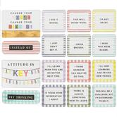 Farmhouse Lane Collection, Positive Approach Mini Bulletin Board Set, Multi-colored, 18 Pieces