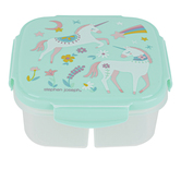 Stephen Joseph, Unicorn Snack Box with Ice Pack, Plastic, 6 x 6 x 2 1/2 inches