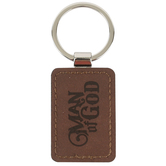 Christian Art Gifts, 1 Timothy 6:11 Man of God Keyring, 3 1/2 x 1 1/2 inches