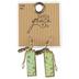 Bella Grace, Floral Pattern Angel Wing Dangle Earrings, Zinc Alloy, Gold-tone