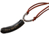 Holy Land Gifts, Shofar Tip Pendant, Leather, Brown, 3 x 5 Inches