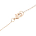 Modern Grace, 1 Corinthians 1:9 God Is Faithful Triangle Pendant Necklace, Rose Gold, 18 Inches