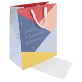 DaySpring, Happy Blessed Birthday Large Gift Bag, 12 7/8 x 10 3/8 Inches