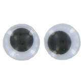 Paste-On Wiggle Eyes, 8mm, Black, 236 count