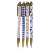 Mardel, Classic Blue Plaid, Floral, Leopard, and Stripes Mechanical Pencil Set, 4 Pieces