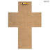 Psalm 46:10, Be Still And Know Wall Cross, MDF, Gray and Pink, 9 1/2 x 6 3/4 x 1 inches