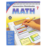 Carson-Dellosa, Interactive Notebooks Math Resource Book, Reproducible Paperback, 96 Pages, Grade 7