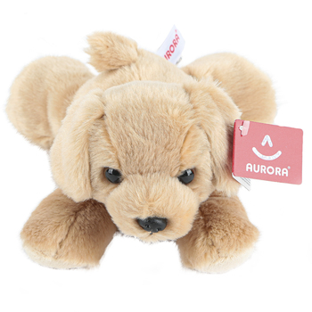 Aurora, Mini Flopsies, Golden the Dog Stuffed Animal, 8 inches