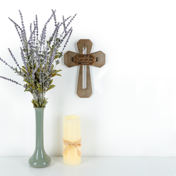 John 15:12, Love Each Other Wall Cross, MDF, 9 3/4 x 6 3/4 inches