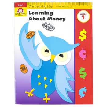Evan-Moor, Learning Line Activity Book: Learning About Money, 32 Pages, Grade 1