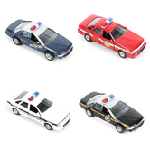 Toysmith, Pull Back Patrol Car, 5 x 1 1/2 inches, Ages 3 and Older