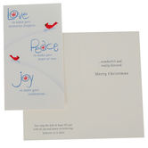 DaySpring, Little Inspirations, Romans 15:13 Love Peace Joy Boxed Christmas Cards, 3 3/8 x 6 inches, 16 cards