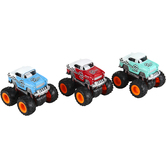 Master Toys and Novelties, Inc., Mini Monster Friction Racing Coupe, Die-Cast Metal, 3 1/2 inches