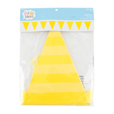 Bright Ideas, Stripes and Solid Pennant Banner, Multiple Colors Available, 82 inches