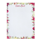 Renewing Faith, Christ Is Born Floral Greenery Letterhead, White, 8 1/2 x 11 inches, 25 sheets
