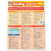 BarCharts Inc, Reading Fundamentals 1 Vocabulary, Quick Study Academic Guide, Grades 6-Adult