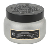Darsee & Davids, Maple & Cream Latte Candle Tin, Silver and Black, 4 ounces
