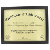 Green Tree Gallery, Low Profile Document Frame, Black, 11 7/8 x 9 3/8 x 5/8 inches