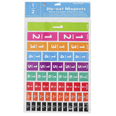 Ashley Productions, Inc., Die-Cut Magnetic Comparative Fractions, Assorted Colors, Pack of 51