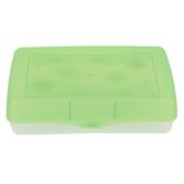 Storex, Pencil Case, Plastic, Assorted Colors, 8 1/2 x 5 1/2 x 2 1/2 inches