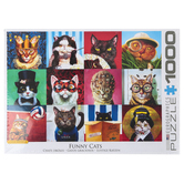 Eurographics, Funny Cats Puzzle, 1000 Pieces, 19 1/4 x 26 1/2 inches