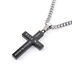 Spirit & Truth, Psalm 23:4, Diamond Back Cross, Men's Necklace, Stainless Steel, Black, 24 Inches