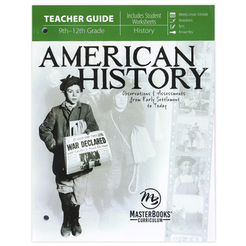 Master Books, American History Teacher Guide, Paperback, 282 Pages, Grades 9-12
