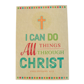 Renewing Minds, I Can Do All Things Motivational Poster, Phil 4:13, 13 x 19 Inches, 1 Each