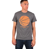 Red Letter 9, Philippians 4:13, Basketball, Men's Short Sleeve T-Shirt, Charcoal, M-2XL