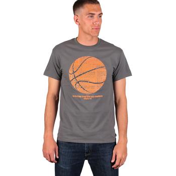 Red Letter 9, Philippians 4:13, Basketball, Men's Short Sleeve T-Shirt, Charcoal, M-2XL