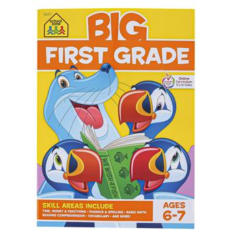 School Zone, Big First Grade Workbook, Paperback, 320 Pages, Grade 1