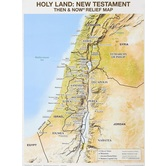 Holy Land: Then and Now Relief Map, by Rose Publishing, Wall Chart
