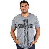 NOTW, Cross Flag, Men's Short Sleeve T-shirt, Heather Gray, S-2XL