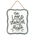 Open Road Brands, Psalm 28:7 The Lord Is My Strength Wall Sign, Metal, White, 7 x 6 inches