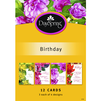 DaySpring, Beautiful Sentiments Birthday Cards, 12 count
