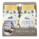 Demdaco, Honey Bunny Easy Kneezies, Cotton and Polyester, 3 1/4 x 5 1/4 inches