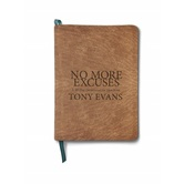 No More Excuses: A 90-Day Devotional for Men, by Tony Evans, Imitation Leather, Brown