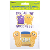 Eureka, PB&J Scented Jumbo Stickers, 3 Inches, Pack of 12