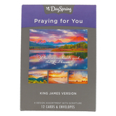 DaySpring, Heartfelt Expressions Boxed Praying for You Cards, 12 Cards with Envelopes