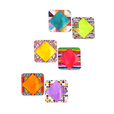 Color Me Brilliant Collection, Large Cutouts 6 x 6 Inches, Multi-Colored, 36 Pieces