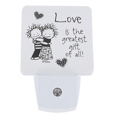 Dexsa, Love Is The Greatest Gift of All Night Light, Black & White, 3 x 4 1/2 inches