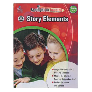 Carson-Dellosa, Story Elements Resource Book, Spotlight on Reading, Reproducible Paperback, Grades 3-4