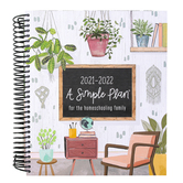 A Simple Plan, Homeschool Planner 2021-2022, Plants, Spiral, 1 Each