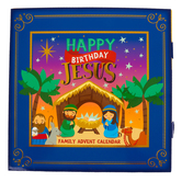 Renewing Faith, Happy Birthday Jesus Family Advent Calendar, 11 x 11 x 1 3/4 inches