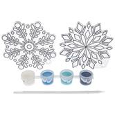 Brother Sister Design Studio, Christmas Crafts, Snowflakes Suncatcher Craft Kit, Makes 2