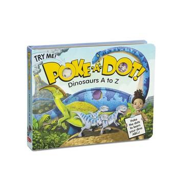 Dinosaurs A to Z, Poke-a-Dot Book, by Melissa & Doug, Board Book